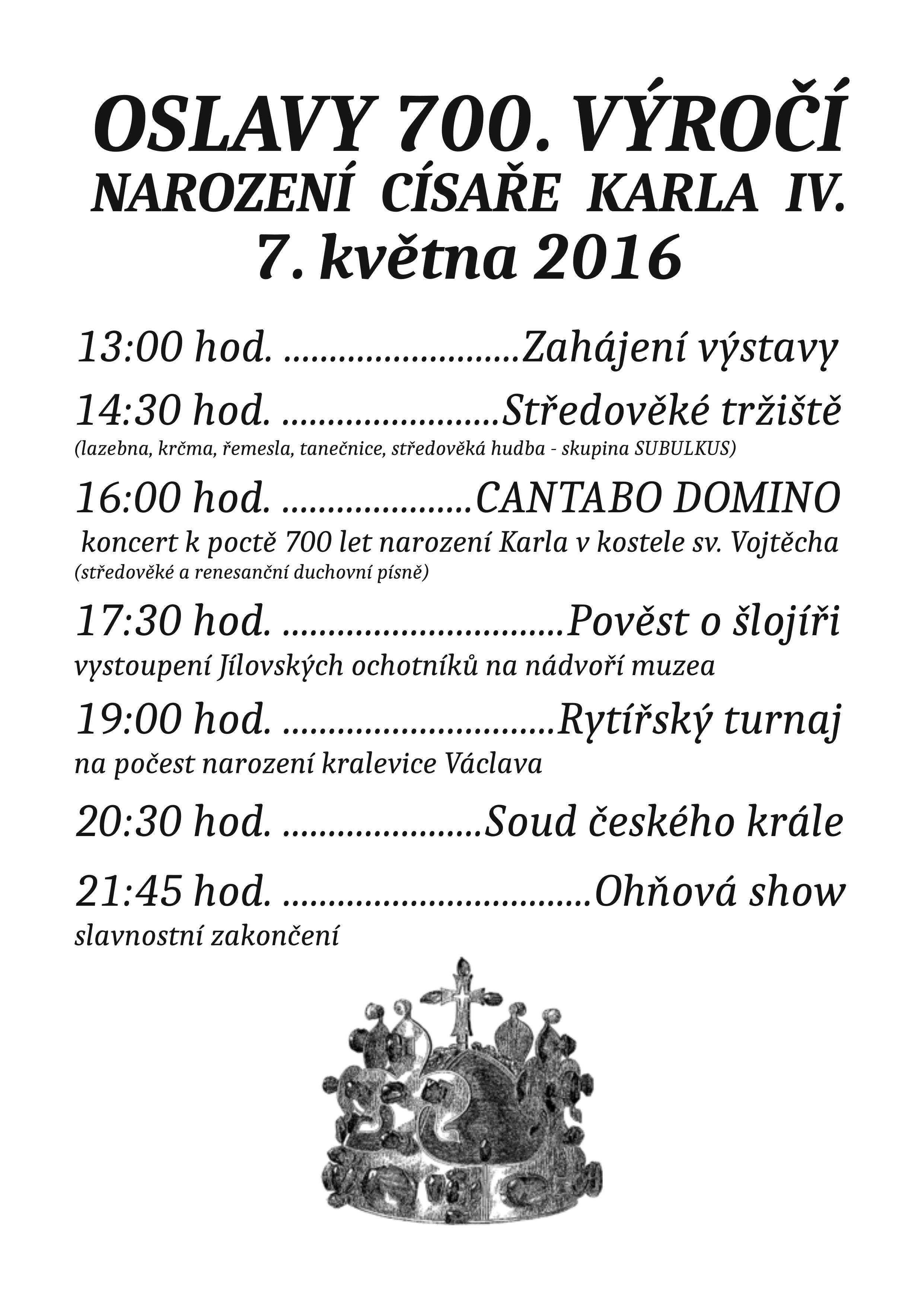 Oslavy700.výročínarozenícísařeKarlaIV.