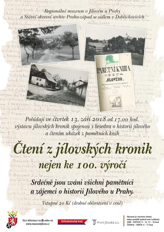 Čtenízjílovskýchkronik…nejenke100.výročí